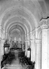 Eglise Saint-Eutrope - Vue intérieure de la nef vers le choeur