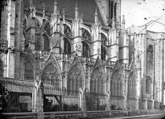 Basilique Saint-Denis - Façade nord : Partie ouest