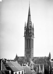 Eglise Notre-Dame du Creisker ou Kreisker - Vue d'ensemble : Toitures et clocher, côté nord