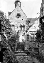 Eglise - Façade ouest et sacrisitie