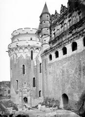 Château - Façade nord sur la Loire : Tour des Minimes et logis du roi