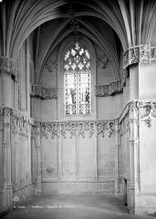 Château - Chapelle : Vue intérieure du transept