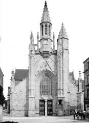 Eglise Saint-Aubin (ancienne collégiale) - Façade ouest