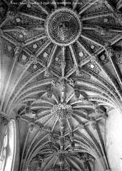 Chapelle du Saint-Esprit - Vue intérieure : Voûte ornementée