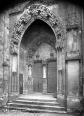 Eglise Notre-Dame, actuellement collégiale - Portail de la façade nord