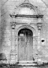 Chapelle de l'ancien cimetière, dite chapelle de Seigne - Portail d'entrée