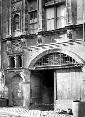 Maison dite de la Coquille - Façade sur rue : Porte d'entrée