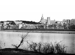 Palais des Papes - Vue générale prise de l'autre rive du Rhône