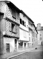 Maison à pans de bois du 16e siècle, dite maison Loubières - Façade sur rue