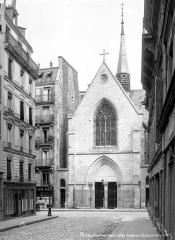 Ancien collège de Beauvais, actuelle église orthodoxe roumaine - Chapelle : Façade et clocher