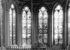 Ancien collège de Beauvais, actuelle église orthodoxe roumaine - Chapelle : Fenêtres du choeur