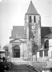 Eglise Saint-Germain-de-Charonne - Façade sud : Portail et clocher