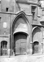 Hôtel de Sens - Façade sur rue : Porte