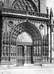 Eglise Saint-Laurent - Portail de la façade ouest