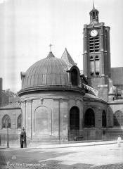 Eglise Saint-Laurent - Façade nord : Abside et clocher
