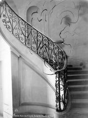 Anciens hôtels de Rohan et Soubise, actuellement Archives Nationales - Hôtel de Soubise. Rampe de l'escalier des Guise