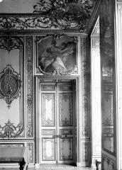 Anciens hôtels de Rohan et Soubise, actuellement Archives Nationales - Hôtel de Soubise. Salle des Bourbons : Porte