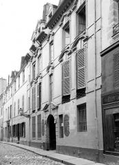 Hôtel de Launay - Façade sur rue en perspective