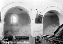 Eglise - Vue intérieure de la nef et du bas-côté sud : Grandes arcades