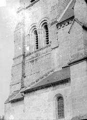 Eglise de Crandelain - Clocher : Fenêtres géminées