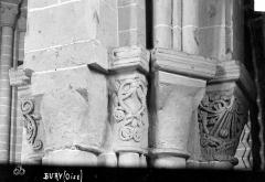 Eglise - Chapiteaux du 3ème pilier de la nef et du bas-côté sud (face ouest)
