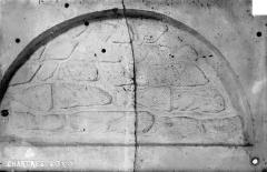 Hôpital Saint-Brice - Chapelle. Crypte : Appareil d'un mur mérovingien