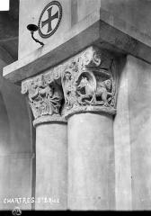 Hôpital Saint-Brice - Chapelle : Chapiteaux historiés