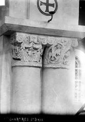 Hôpital Saint-Brice - Chapelle : Chapiteaux