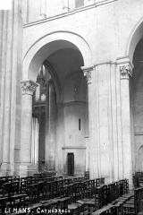 Cathédrale Saint-Julien - Vue intérieure de la nef, côté sud : Grande arcade