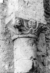 Cathédrale Saint-Julien - Chapelle Saint-Sauveur : Chapiteau figuré