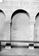 Abbaye de la Couture - Eglise : Arcatures et piliers de la nef