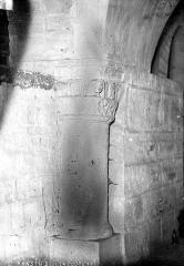 Abbaye de la Couture - Eglise : Pilier de la crypte