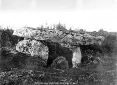 Dolmen de Laverré - Vue d'ensemble, du côté de l'entrée