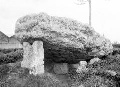 Dolmen dit La Pierre-Levée - Vue d'ensemble et vue intérieure