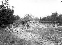 Nécropole de la Boixe - Tombelle vue en coupe