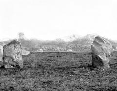 Alignement du Ménec - Deux menhirs