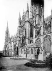 Eglise Saint-Ouen et Chambre des Clercs - Façade sud en perspective