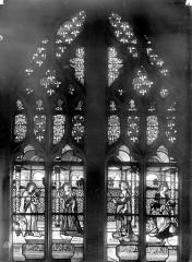 Eglise Saint-Martin - Vitrail, baie 2 (ensemble) : Saint Jean, sainte Marie-Madeleine, sainte Marie-Cleophe et sainte Marthe