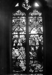 Eglise Saint-Martin - Vitrail, baie 10 (ensemble) : Descente de Croix