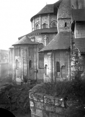 Ancienne abbaye royale de Fontevraud, actuellement centre culturel de l'Ouest - Eglise : Abside, côté nord