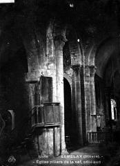 Eglise - Nef, bas-côté, pilier