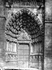Ancienne cathédrale Saint-Etienne - Portail ouest, gauche