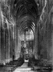 Ancienne cathédrale Saint-Etienne - Nef, vue de l'entrée