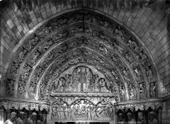 Ancienne cathédrale, actuellement église Notre-Dame, et cloître - Portail nord, tympan