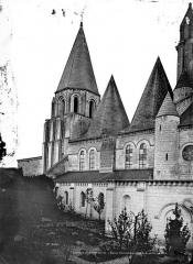 Ancienne collégiale Saint-Ours - Façade sud : partie ouest