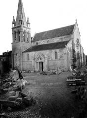 Eglise Saint-Etienne et ses abords - Façade nord-ouest