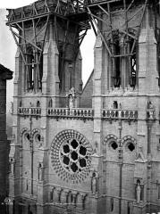 Cathédrale Notre-Dame - Façade ouest, partie supérieure