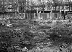 Ancien couvent des Bernardins - Chapelle, fouilles de mars 1888