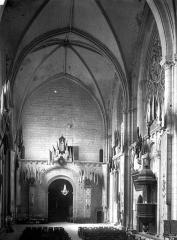 Eglise Sainte-Radegonde - Nef, vue du choeur