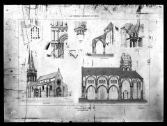 Eglise Saint-Etienne et ses abords - Dessin